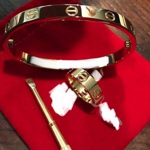 Fashion ❤️ Bracelet Bangle & Ring Set